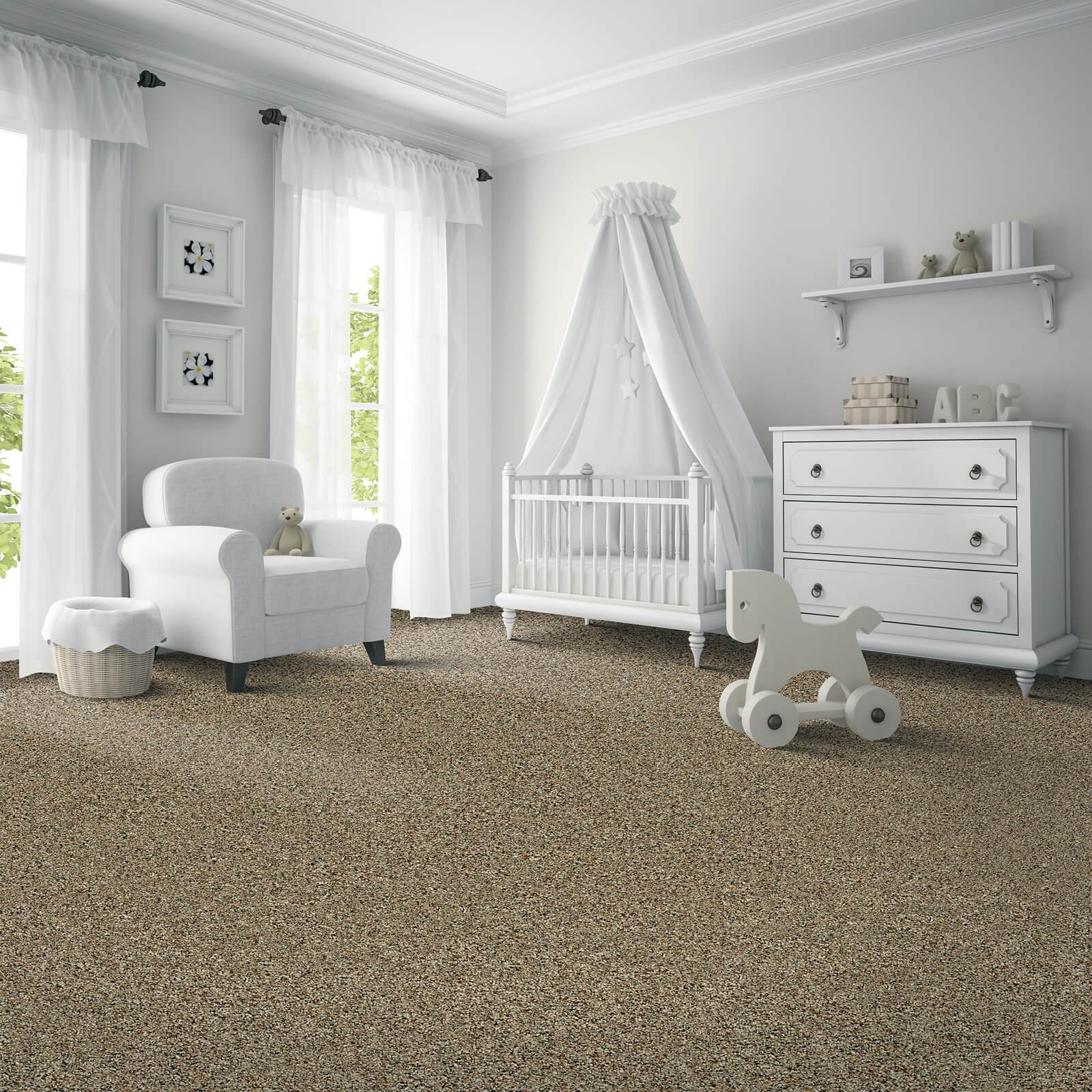 Grey Carpet of baby room | McSwain Carpet & Floors