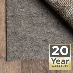 Rug pad 20 year warranty | McSwain Carpet & Floors