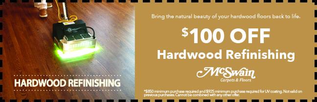 Hardwood-Refinishing | McSwain Carpet & Floors