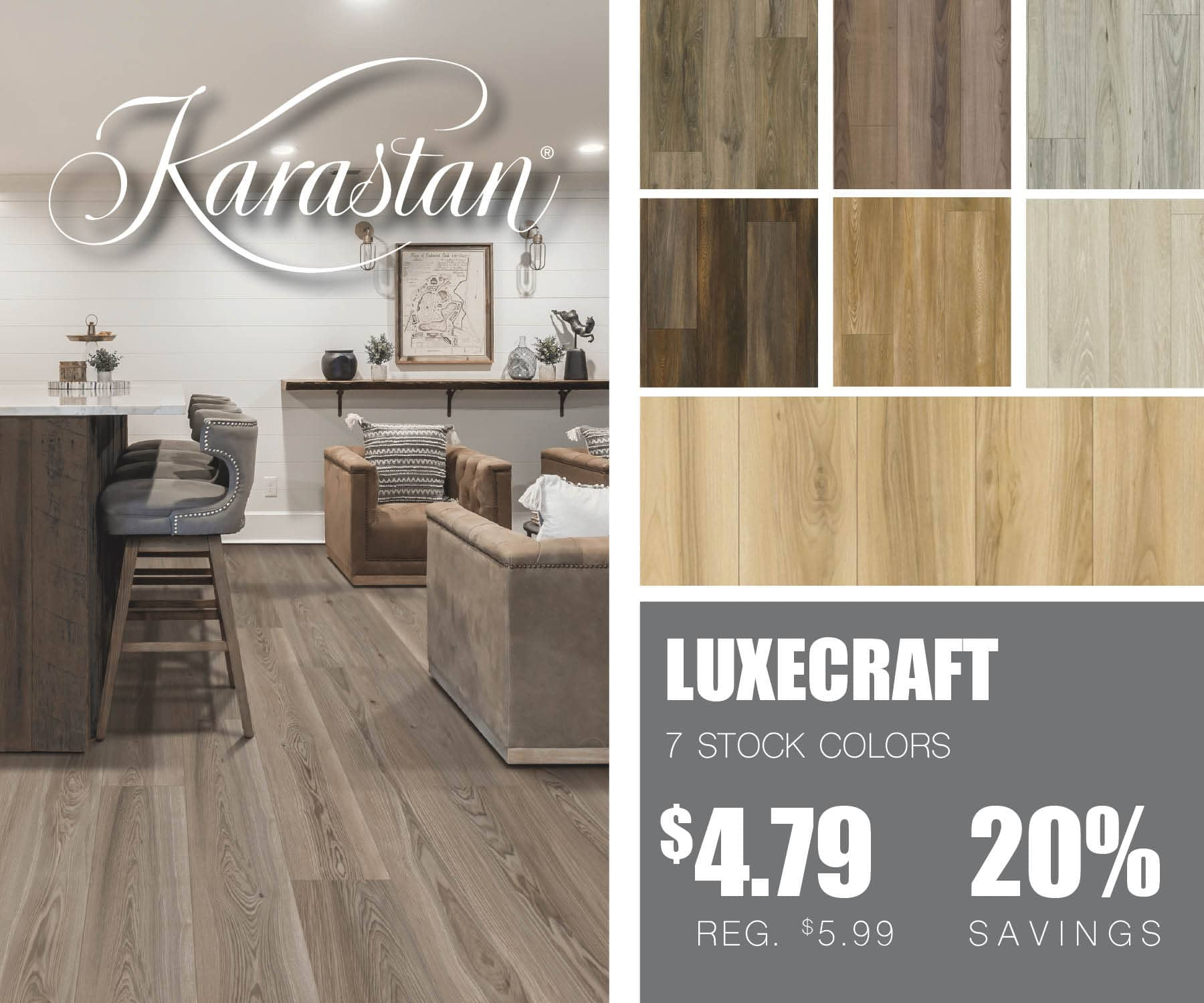 Karastan LuxeCraft Luxury Vinyl | McSwain Carpet & Floors