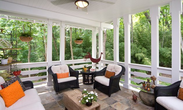 Outdoor Living Space with Tile   McSwain Carpet & Floors