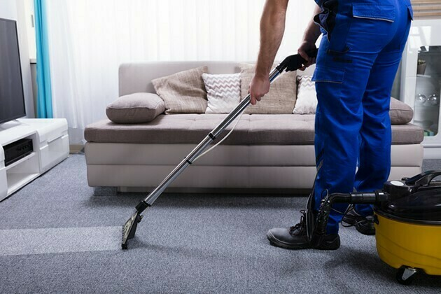 Janitor Cleaning Carpet | McSwain Carpet & Floors